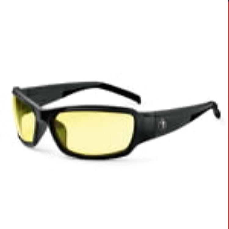 Ergodyne Skullerz Thor Safety Sunglasses - Black Frame, Yellow Lens by Ergodyne