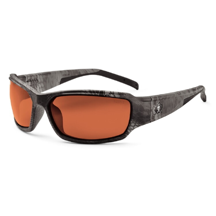 Ergodyne Skullerz THOR Polarized Safety Glasses - Camo Kryptek Typhon Frame - Polarized Copper Lens