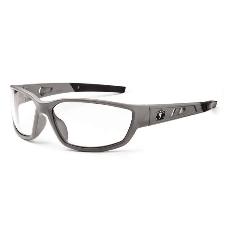 Ergodyne Skullerz KVASIR Safety Glasses - Matte Gray Frame - Clear Lens