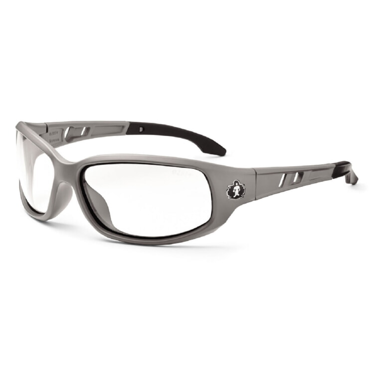 Ergodyne Skullerz VALKYRIE Safety Glasses - Matte Gray Frame - Clear ...