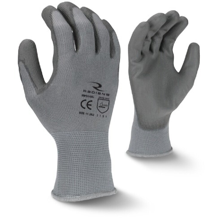 Radians RWG14 PU Palm Coated Gloves 13-Gauge
