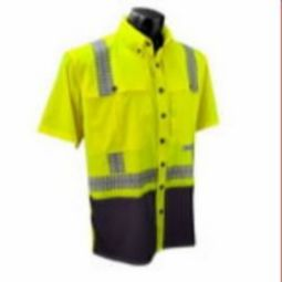 Radians SW11-2BGR Class 2 HI-VIZ Stretch Ripstop Wind Shirt - Yellow/Black