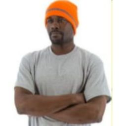 Majestic 75-8202 High Visibility Acrylic Knit Beanie - Orange