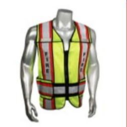 Radians LHV-207-4C-FIR Fire - Class 2 Black Trim Safety Vest - Green