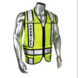 Radians LHV-207-3G-SHF Sheriff - Class 2 Black Trim Safety Vest - Green
