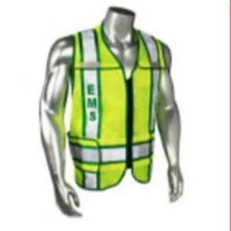 Radians LHV-207-3G-EMS EMS - Class 2 Green Trim Safety Vest - Green