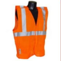 Radians SV4OM Economy Type R Class 2 Breakaway Safety Vest Orange Mesh