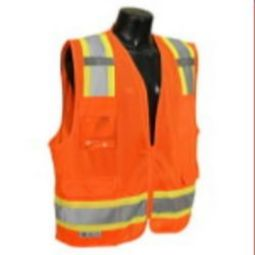 Radians SV6-2ZOM Two Tone Surveyor Type R Class 2 Mesh Safety Vest-Orange