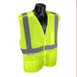 Radians SV4X-2VGM Economy Breakaway X-Back Class 2 Safety Vest-Green