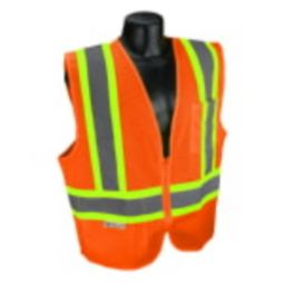 Radians SV22X-2ZOM Economy Two-Tone  X-Back Class 2 Safety Vest- Orange