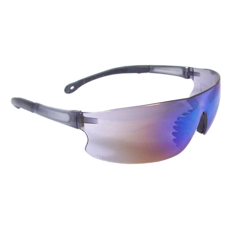Radians Rad-Sequel Safety Eyewear RS1-70 Blue Mirror Lens, Black Frame