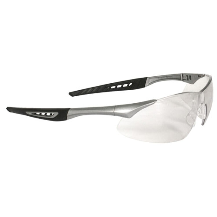 Radians Rock Safety Eyewear RK6-11 Clear Anti-Fog Lens, Silver Frame