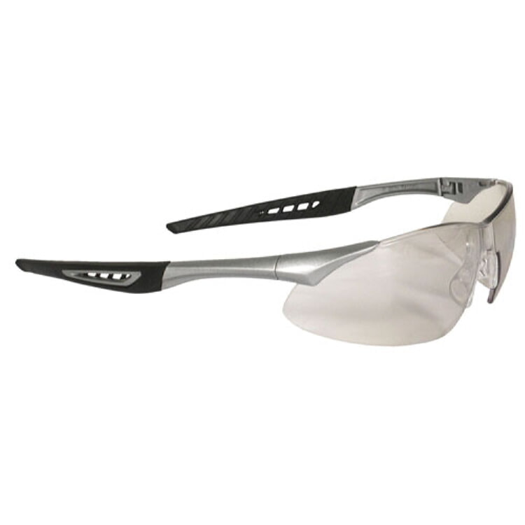 Radians Rock Safety Eyewear RK6-90 Indoor/Outdoor Lens, Silver Frame