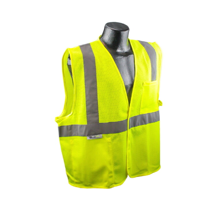 Radians SV2GM Economy Class 2 Safety Vest Hi Viz Green Mesh