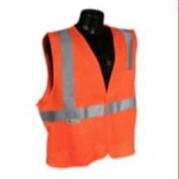 Radians SV2OM Economy Class 2 Safety Vest Hi Viz Orange Mesh