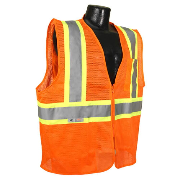 Radians SV225-2ZOM Class 2 Self Extinguishing Safety Vest Two-Tone Orange Size 5X