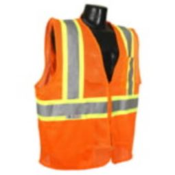 Radians SV225-2ZOM Class 2 Self Extinguishing Safety Vest Two-Tone Orange