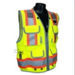 Radians SV55-2ZGD  Engineer Class 2 Safety Vest Heavy Two-Tone - Green/Lime