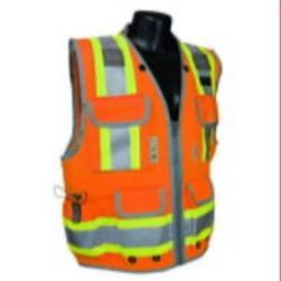 Radians SV55-2ZOD Class 2 Two Tone Engineer Safety Vest Heavy Woven - Orange