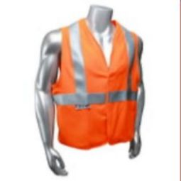 Radians SV92 Basic Modacrylic FR Class 2 Vest Hi Viz Orange Solid