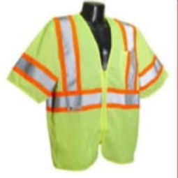 Radians SV22-3ZGM Class 3 Safety Vest - Economy Two-Tone Green Mesh