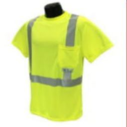 Radians ST11-2PGS Class 2 Hi-Viz Safety T-Shirt Wicking Technology-Green