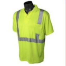 Radians ST12-2PGS Class 2 Hi-Viz Safety Polo T-shirt Wicking Technology-Green