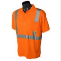 Radians ST12-2POS Class 2 Hi-Viz Safety Polo T-shirt Wicking Technology-Orange