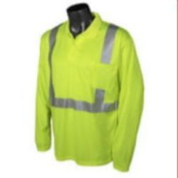 Radians  ST22-2PGS Class 2 Hi-Viz  Long Sleeve Polo  Safety Shirt-Green