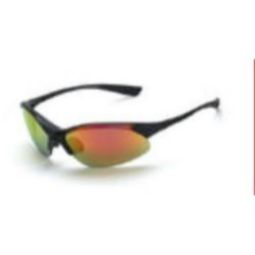 Crossfire 1528 Cobra Red Mirror Lens, Matte Black Frame