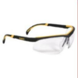 DEWALT DPG55-1D DC Safety Glasses - Black Frame, Clear Lens