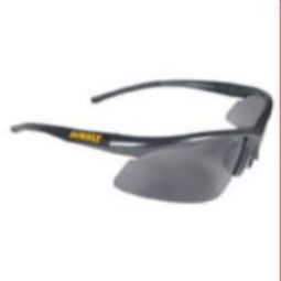 DeWalt DPG51-2D Radius Safety Glasses Black Frame, Smoke Lens