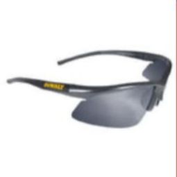 DeWalt DPG51-6 Radius Safety Glasses Black Frame, Silver Mirror Lens