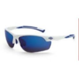 Crossfire AR3 blue mirror lens, white frame