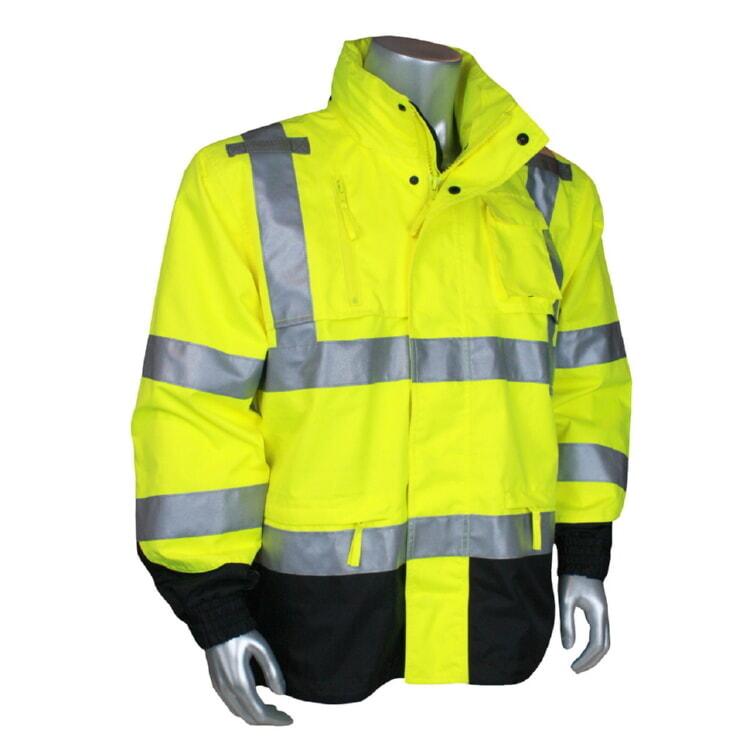 Radians RW32-3Z1Y Heavy Duty Waterproof Rain Jacket RW32