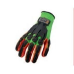 Ergodyne ProFlex 920 Nitrile-Dipped Impact-Reducing Gloves Lime