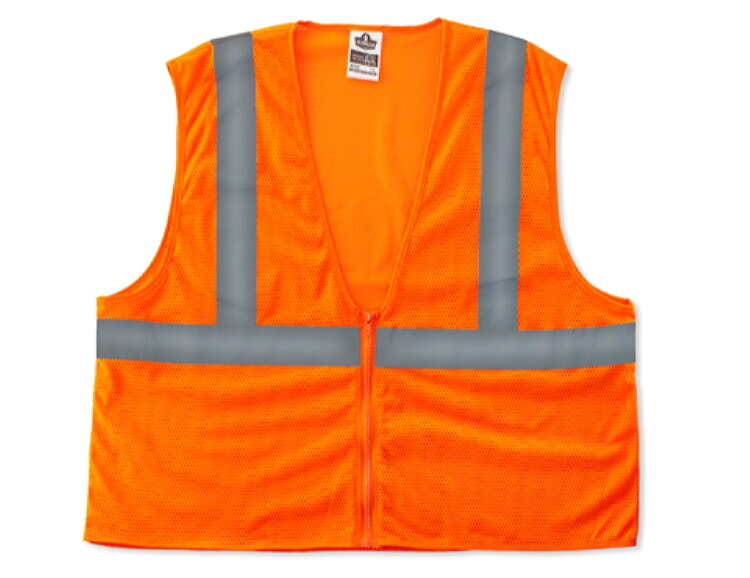 Ergodyne 8205Z-ORG Economy Class 2 Safety Vest -Orange