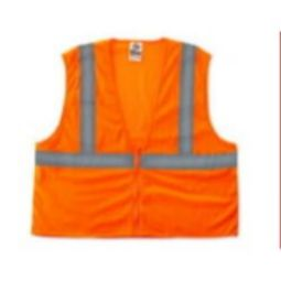 Ergodyne 8205Z Economy Class 2 Safety Vest -Orange