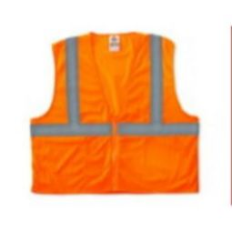 Ergodyne GloWear 8210Z Class 2 Economy Vest - Hi Viz Orange