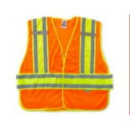 Ergodyne GloWear 8240HL Class 2 Two-Tone Expandable Vest - Hi Viz Orange
