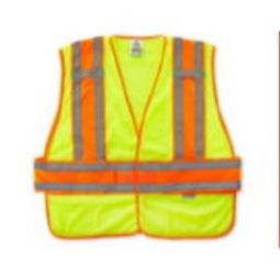 Ergodyne GloWear 8240HL Class 2 Two-Tone Expandable Vest - Hi Viz Lime