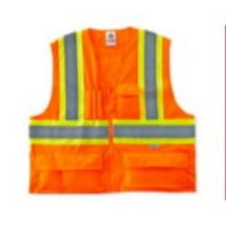 Ergodyne 8235ZX  X-Back Class 2 Two-Tone Safety Vest - Orange