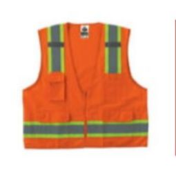 Ergodyne GloWear 8248Z Class 2 Two-Tone Surveyors Vest - Hi Viz Orange