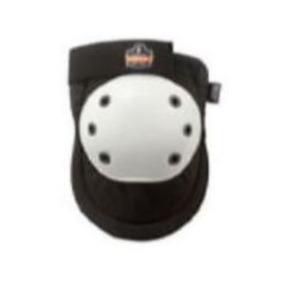 Ergodyne ProFlex 300HL Rounded White Cap Knee Pad - Hook and Loop
