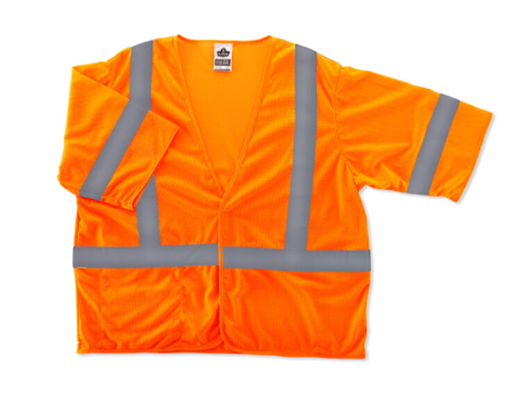 Ergodyne GloWear 8310HL-ORANGE Class 3 Safety Vest - Economy Hi Viz Orange