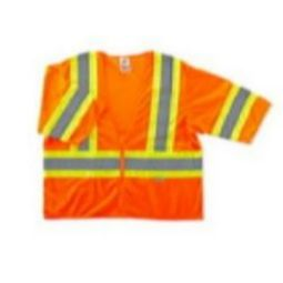 Ergodyne GloWear 8330Z-ORANGE Class 3 Safety Vest - Two-Tone Vest Hi Viz Orange