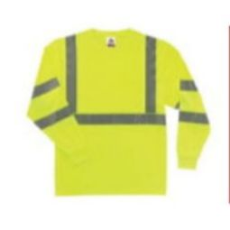 Ergodyne  8391 Class 3  Hi VIS Long Sleeve Shirt - Green