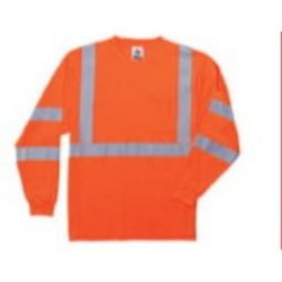 Ergodyne  8391 Class 3  Hi VIS Long Sleeve Shirt - Orange