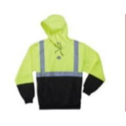 Ergodyne GloWear 8293 High Visibility Class 2 Hooded Sweatshirt - Lime/Black