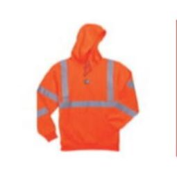 Ergodyne GloWear 8393 Class 3 Hooded Sweatshirt - High Visibility Orange